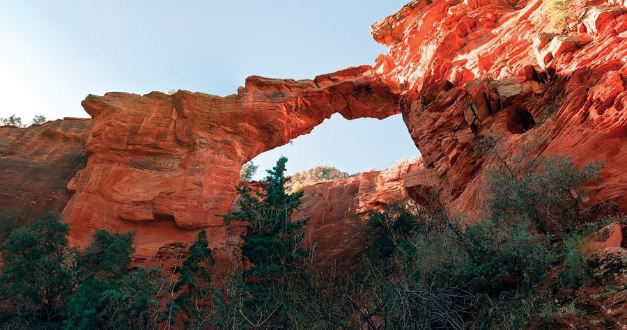 Hike to Devil's Bridge Sedona This Fall